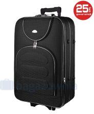 d7aa36a1b3af2 Średnia walizka PELLUCCI 801 M - Czarna Kratka - czarny