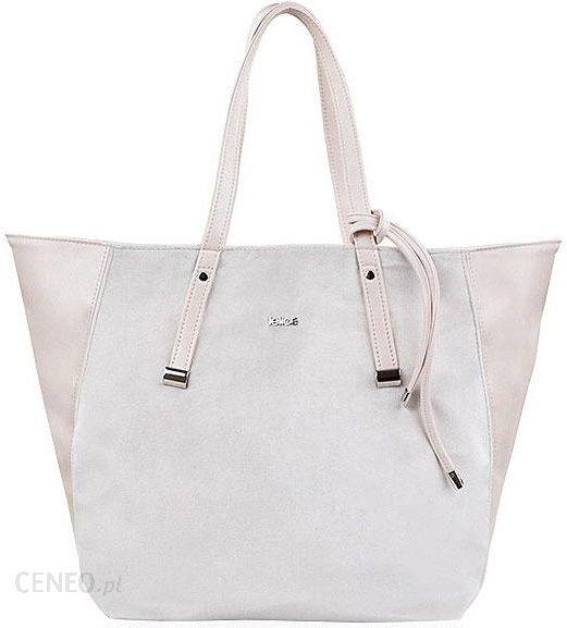 e9b7f908590bb Torba damska shopper Felice Rica FB06 jasnobeżowa - Beige - Ceny i ...