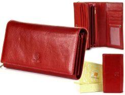 bc22d3bb362e9 Skórzany portfel damski KRENIG Classic 12015 czerwony w pudełku - Czerwony
