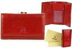 6d98865c09fff Skórzany portfel damski KRENIG Classic 12022 czerwony w pudełku - Czerwony