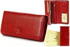 e17f412f39c38 Portfel skórzany damski KRENIG Classic 12026 czerwony w pudełku - Czerwony
