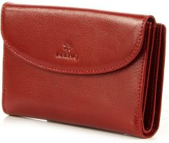 857d6cc948090 Skórzany portfel damski KRENIG Classic 12083 czerwony w pudełku