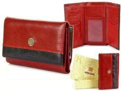 d9d78c562b043 Portfel skórzany damski KRENIG Scarlet 13022 czerwony w pudełku - Czerwony