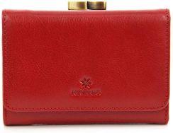f40adba3dee24 Skórzany portfel damski w pudełku KRENIG Classic 12009 czerwony - Czerwony