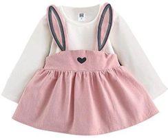 a22df69c41 Amazon dziewcząt sukienki kinderkleidung niemowlęta hirolan Baby Overall  ubranko 0 – 3 lat jesień dziewcząt niemowlęcy