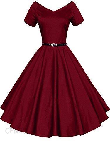 78e1d9e77d Amazon Gigi leer damska sukienka koktajlowa sukienka Vintage dekoltem w  szpic wymachy Rockabilly suknia balowa
