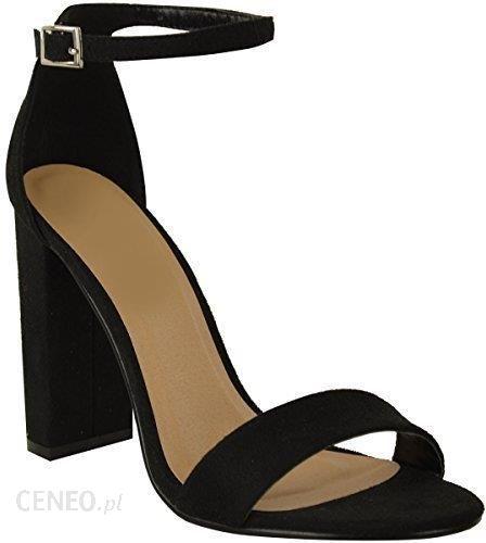 70b78dd7c19e4 Amazon Damski obcas blokowy paski Sexy otwarte kostek z przodu na palcach  sandały buty nowość -