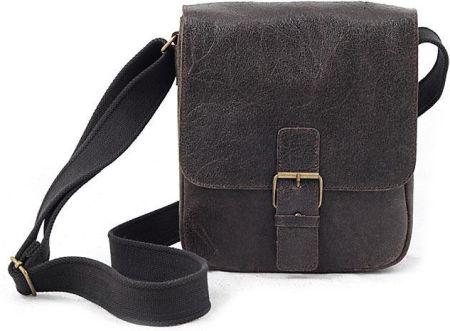 a3725ccbc8391 DAAG Jazzy Wanted 11 ciemnobrązowa torba skórzana unisex listonoszka przez  ramię - ciemny brązowy