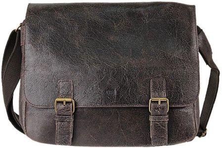 e3ffa586e1b5f DAAG Jazzy Wanted 10 ciemnobrązowa torba skórzana unisex listonoszka przez  ramię - ciemny brązowy