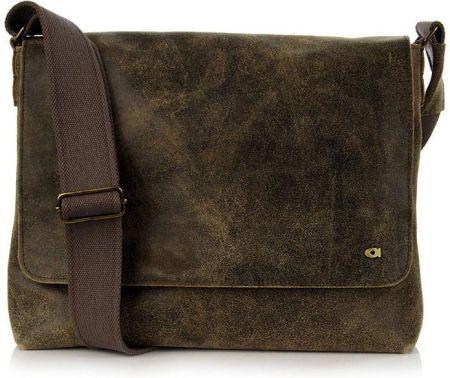 b5821966d894b DAAG Jazzy Risk 130 brązowa torba skórzana unisex listonoszka przez ramię -  czarny/brązowy