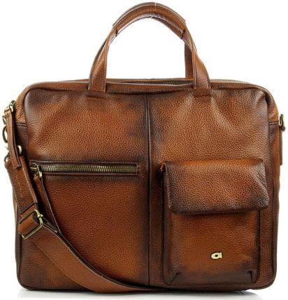 6ee9fbc989a9c Czarna wygodna pojemna torba na laptopa David Jones z funkcjonalnymi ...