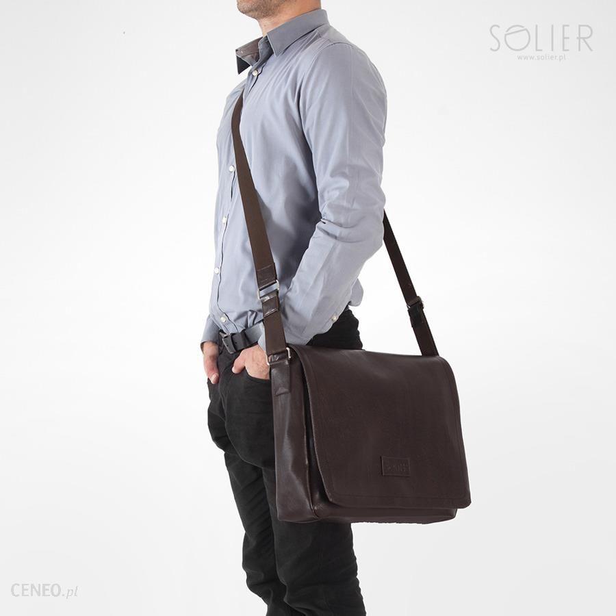 e1919635f1dd8 Stylowa torba męska na ramię casual SOLIER S11 brązowa - Brown - zdjęcie 1