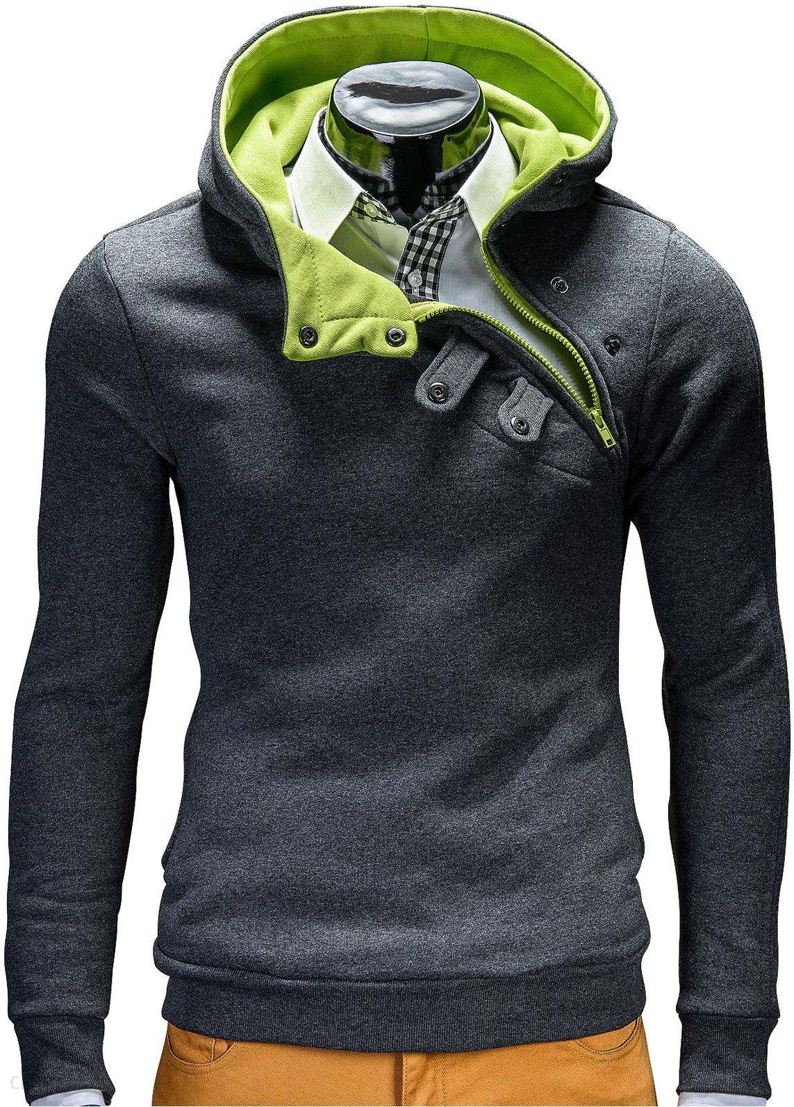 bluza adidas rozpinana szara z zielonymi dodatkami