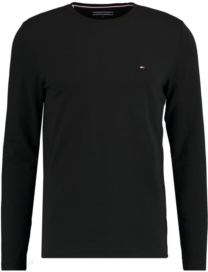 9777e90aabd743 Tommy Hilfiger CREWNECK SLIM FIT Bluzka z długim rękawem black - zdjęcie 1