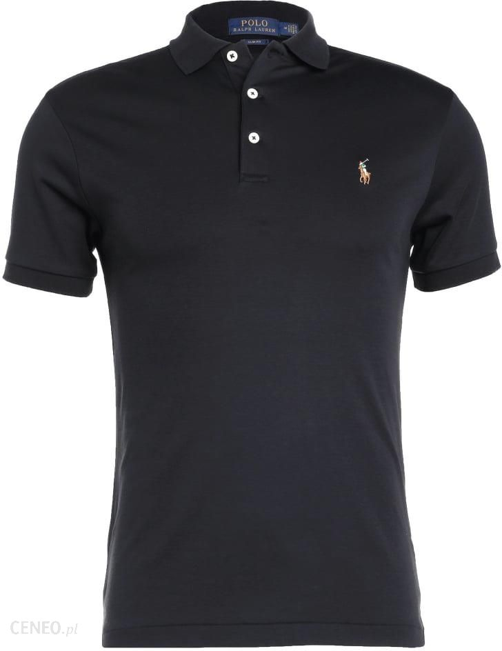Polo Ralph Lauren SLIM FIT Koszulka polo black Ceny i  uUYTE