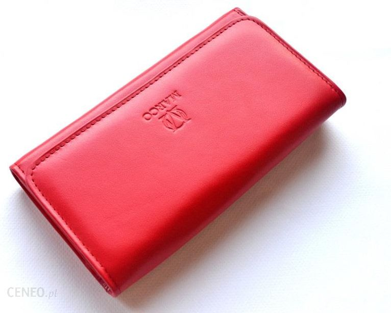 db82995a68002 MARCO skórzany portfel damski PD-20 na suwak czerwony - Ceny i ...