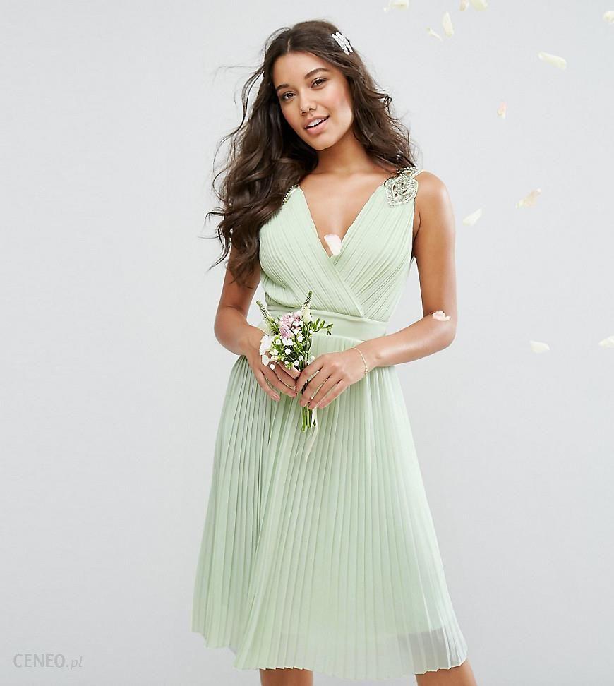 bf3f92e6a7f Tfnc Wedding Wrap Midi Dress With Embellishment - Data Dynamic AG