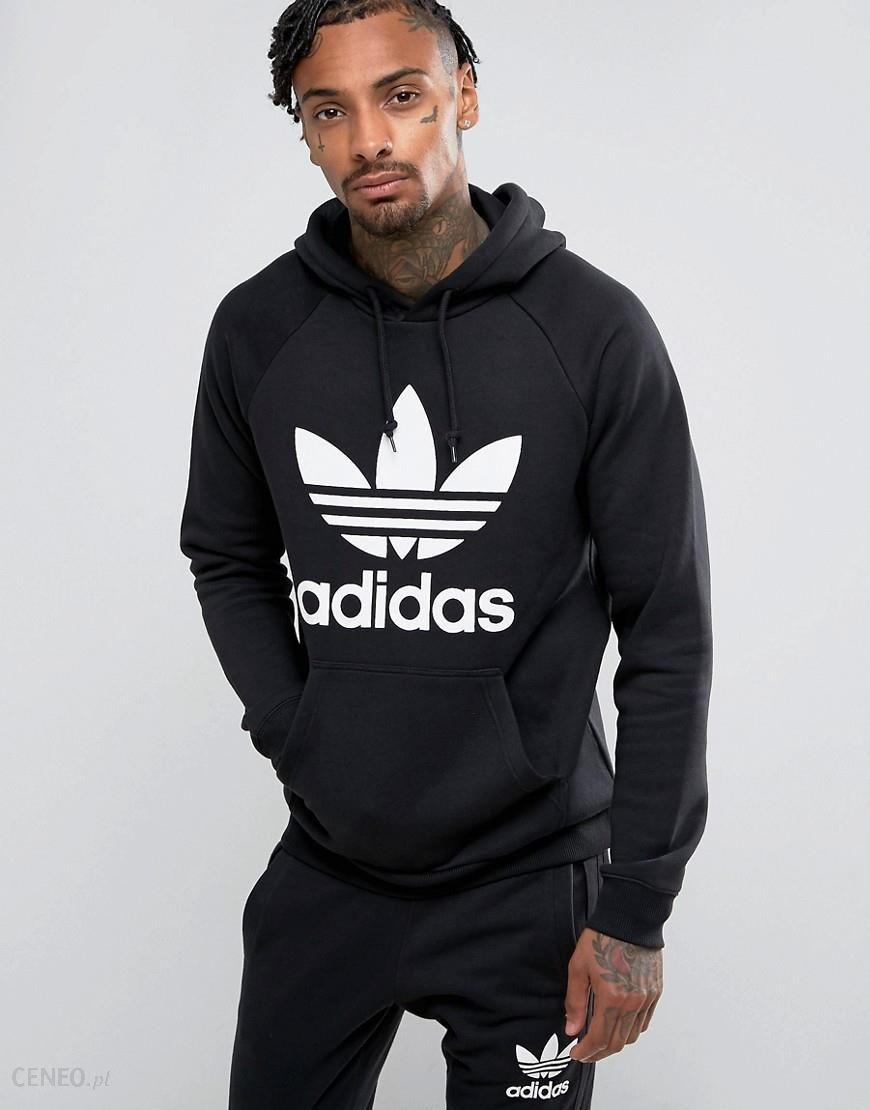 Adidas Mens Originals Trefoil Logo Hoodie Medium Grey | Dres