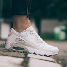 size 40 b53ff 5b66d Buty damskie sneakersy Nike Air Max 90 Se Mesh (GS) 880305 100 - KREMOWY