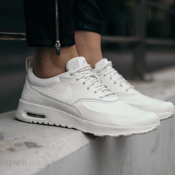 nike air max 90 leather white damskie billig