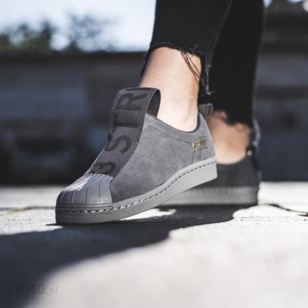 Buty damskie sneakersy adidas Originals Superstar Bw3s Slipon W CG3695 szaryniebieski