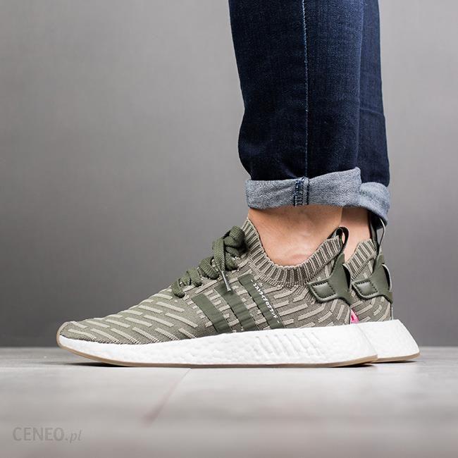 Buty damskie sneakersy adidas Originals Nmd_R2 Japan Primeknit BY9953 ZIELONY