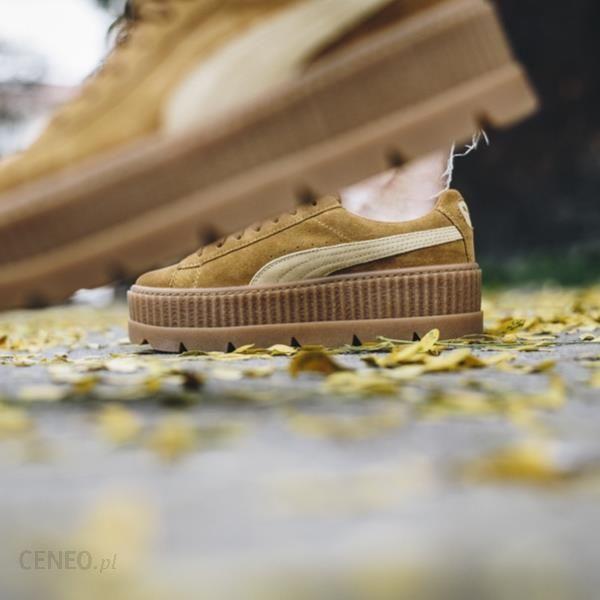 Buty damskie sneakersy Puma x Fenty Rihanna Cleated Creeper Suede Golden Brown 366268 02 ŻÓŁTYBIAŁY Ceny i opinie Ceneo.pl