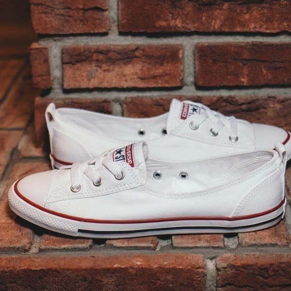 98fc1fe46a6a7 Buty balerinki damskie sneakersy Converse Chuck Taylor All Star Ballet Lace  Slip 549397C - BIAŁY -