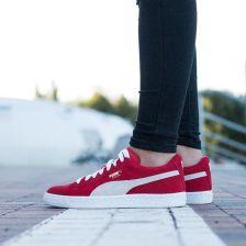 Buty damskie sneakersy Puma Suede Jr 355110 03 CZERWONY Ceny i opinie Ceneo.pl