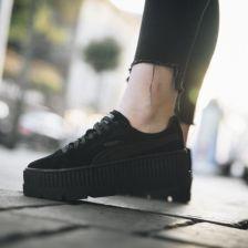 Buty damskie sneakersy Puma x Fenty Rihanna Cleated Creeper Suede Black 366268 04 czarnyszary , , CZARNY Ceny i opinie Ceneo.pl
