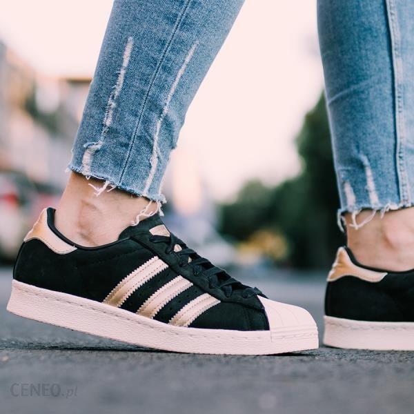 Buty damskie sneakersy adidas Originals Superstar 80s 999 BY9635 - czarny/szary || CZARNY