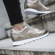 41633f39 Buty damskie sneakersy Reebok Classic Leather Melted Metal BS7898 - ZŁOTY  ...