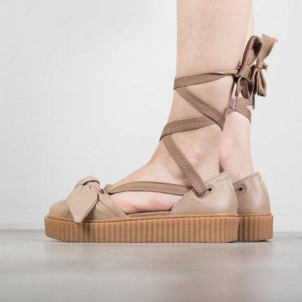 Buty damskie Puma X Fenty Rihanna Bow Creeper Sandal 365794 03 - BE  ZOWY ZŁOTY 9848512da4598