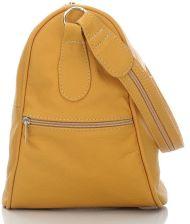 563027320ab4e Skórzany plecaczek i torebka 2 w 1 kolor żółty - żółty