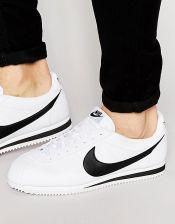 Nike Cortez Leather Trainers In White 749571 100 White Ceneo.pl