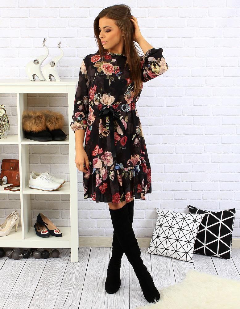 61ab002728 Sukienka Magic czarna w kwiaty (ey0226) - Ceny i opinie - Ceneo.pl