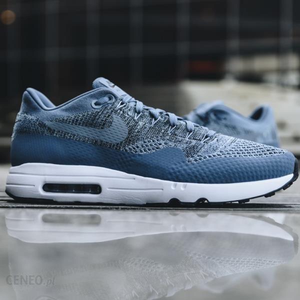 3a755310708f2 Buty męskie sneakersy Nike Air Max 1 Ultra 2.0 Flyknit 875942 400 -  NIEBIESKI - zdjęcie