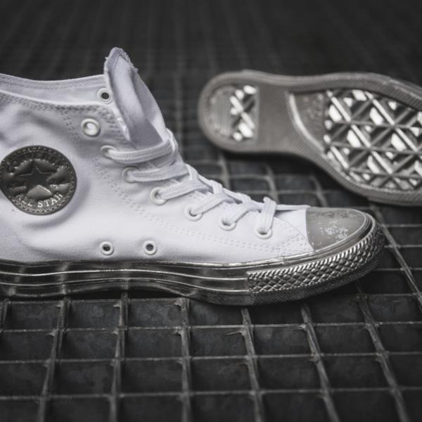 Buty męskie sneakersy Converse Chuck Taylor All Star Hi Metallic Contrast 156769C BIAŁY Ceny i opinie Ceneo.pl