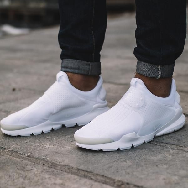 Nike Sportswear Buty Nike Sock Dart Buty męskie białe w