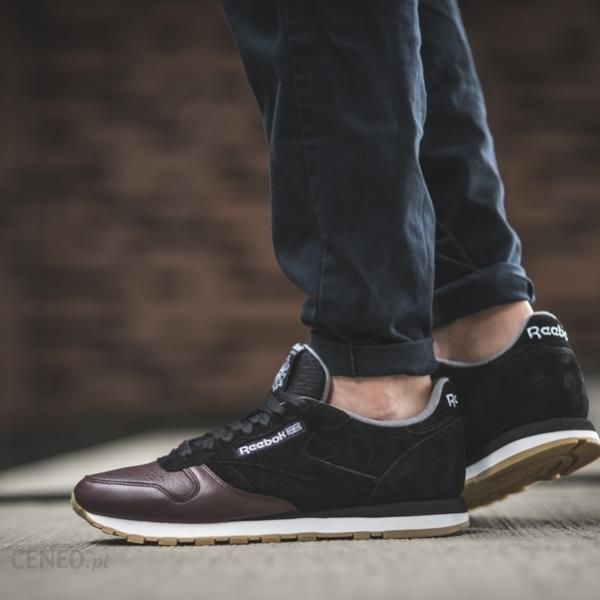 ea9aa816fa2 Buty męskie sneakersy Reebok Classic Leather BS5079 - czarny szary ...