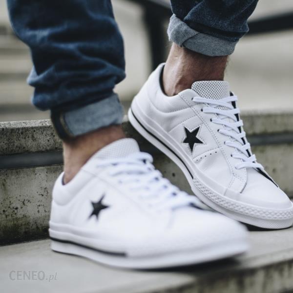 23c576ce78521 Buty męskie sneakersy Converse One Star Perforated Leather 158464C -  zdjęcie 1