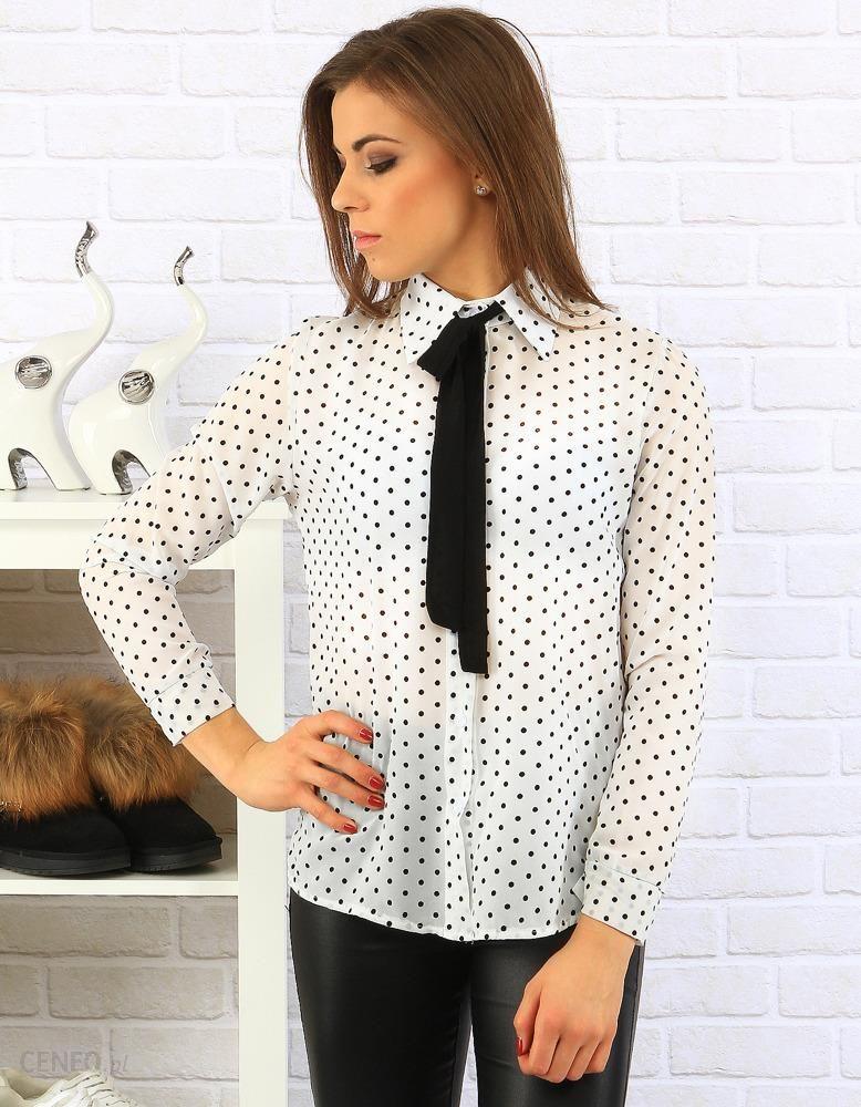 4b26c478024650 Koszula damska Naomi biała w groszki (dy0131) - Ceny i opinie - Ceneo.pl