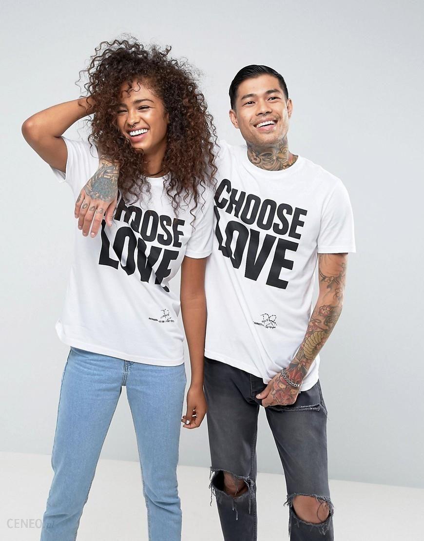 ef36e7450 Help Refugees Choose Love T-Shirt In White - White - zdjęcie 1