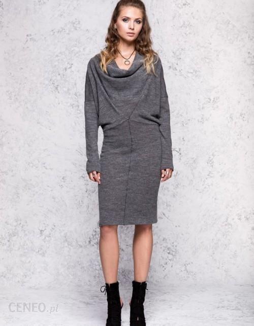 a54de62802 Sukienka wełniana midi z dopasowanym dołem - Ceny i opinie - Ceneo.pl