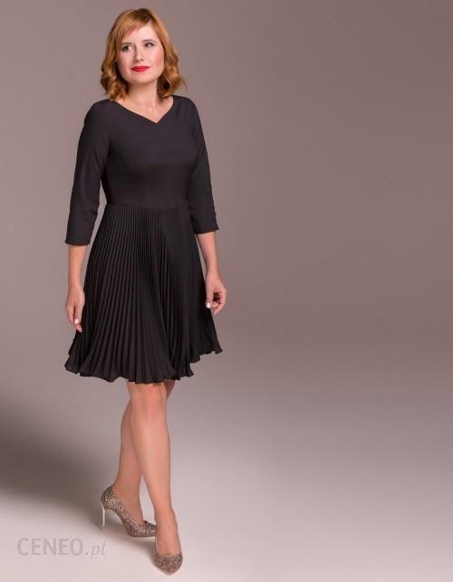 f841f9cd6f41a Sukienka mała czarna plisowana - Ceny i opinie - Ceneo.pl