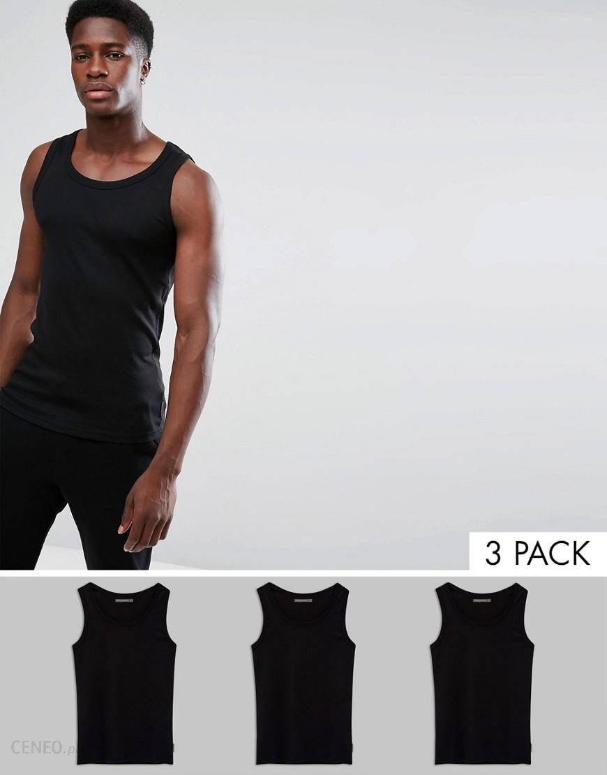 new style c6234 ac3d5 French Connection 3 Pack Lounge Vest - Black - zdjęcie 1