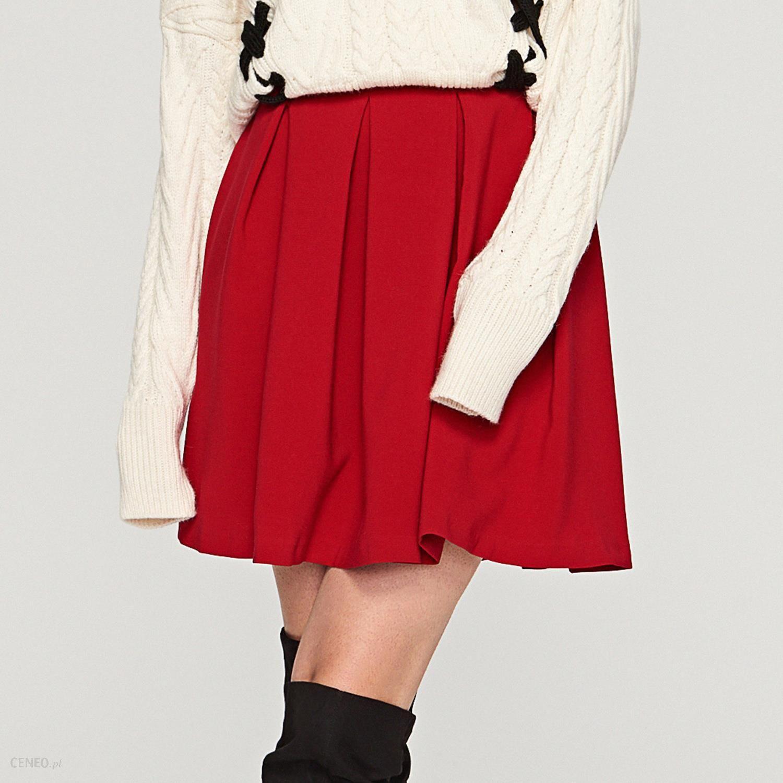 0793b76c Reserved - Rozkloszowana czerwona spódnica - Brązowy - Ceny i opinie -  Ceneo.pl