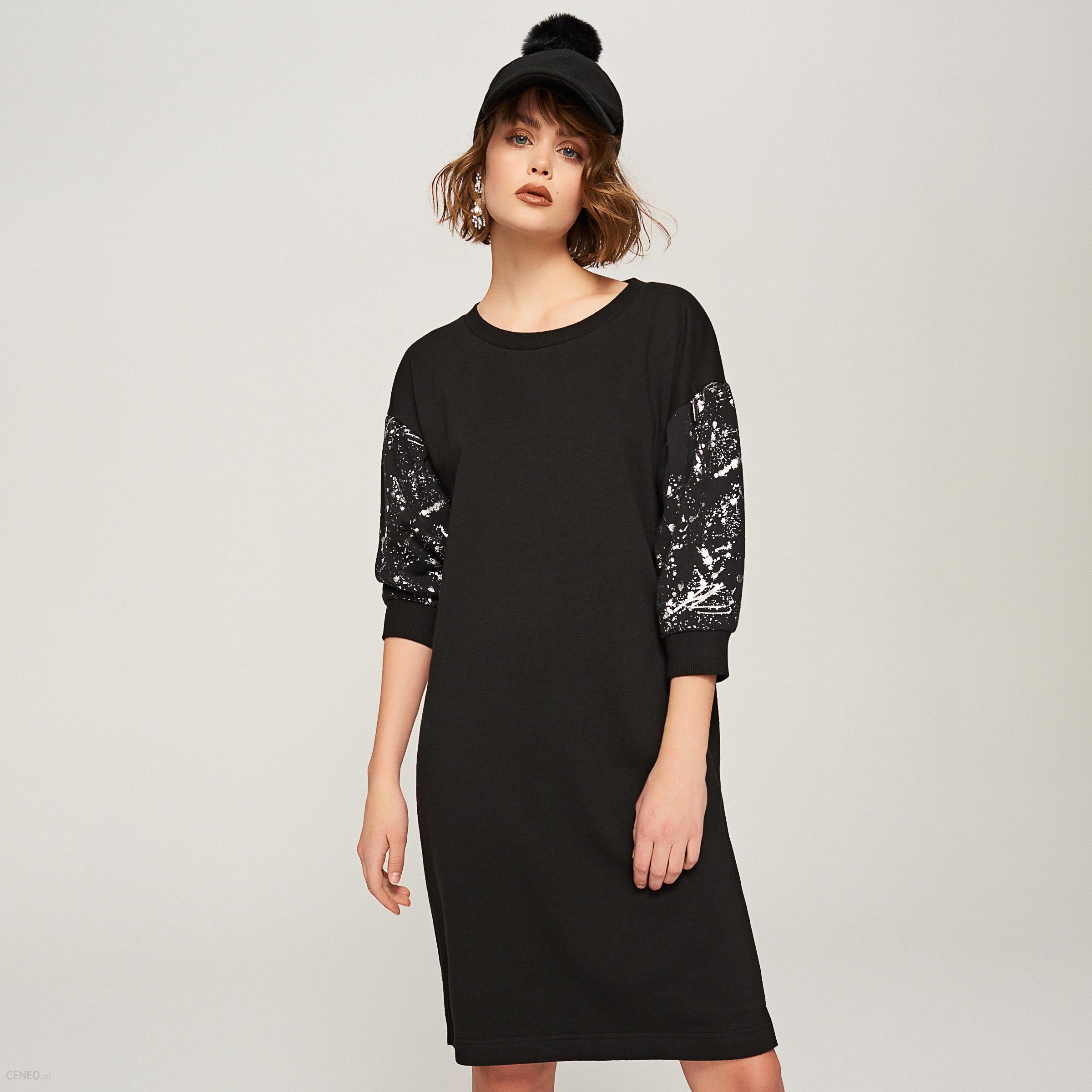d00e936a9d Reserved - Sukienka z szerokimi rękawami - Czarny - Ceny i opinie ...