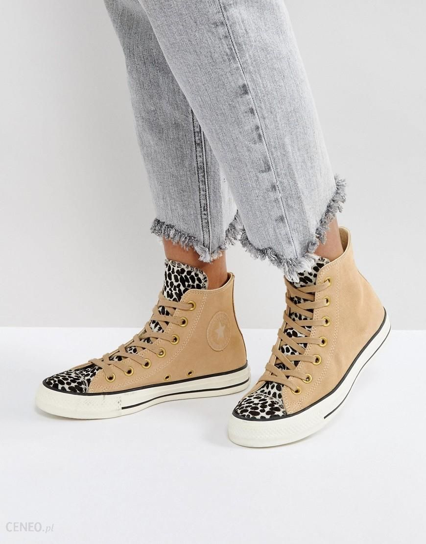 Converse Chuck Taylor All Star Leopard Hi Top Trainers In Tan Beige Ceneo.pl