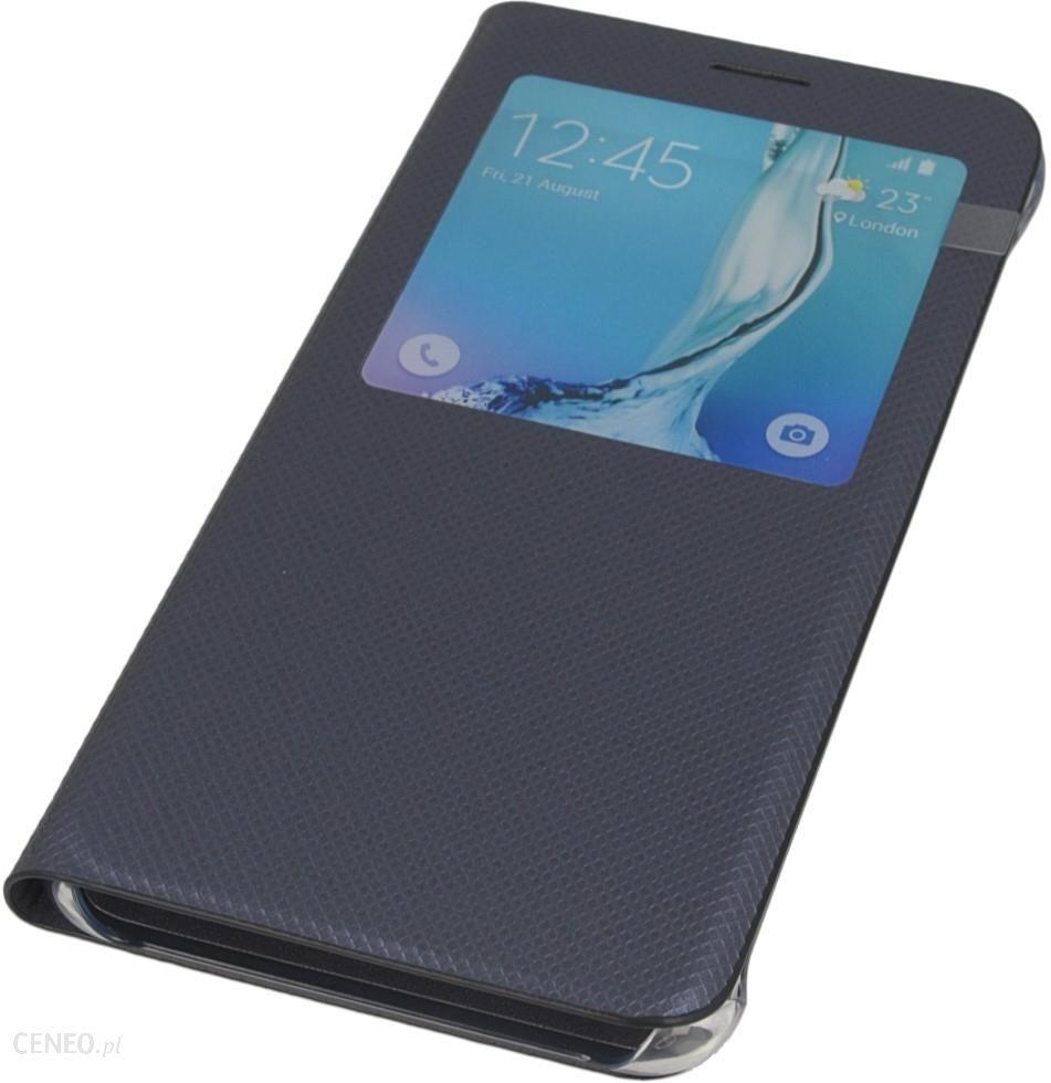 c19815c8f24 Izigsm Oryginalne Etui S-View Ef-Cg928Pbegww Czarne Samsung Galaxy S6 Edge+  - zdjęcie